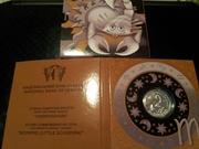 Серебряные монетки детские Знаки Зодиака Скорпиончик,  Козерожек